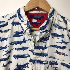 Vintage 90s Tommy Hilfiger Navy Shirt